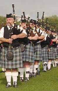 image of Twin Cities Metro Pipe Band in column