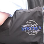 image of TC Metro Pipe Band logo and bag cover